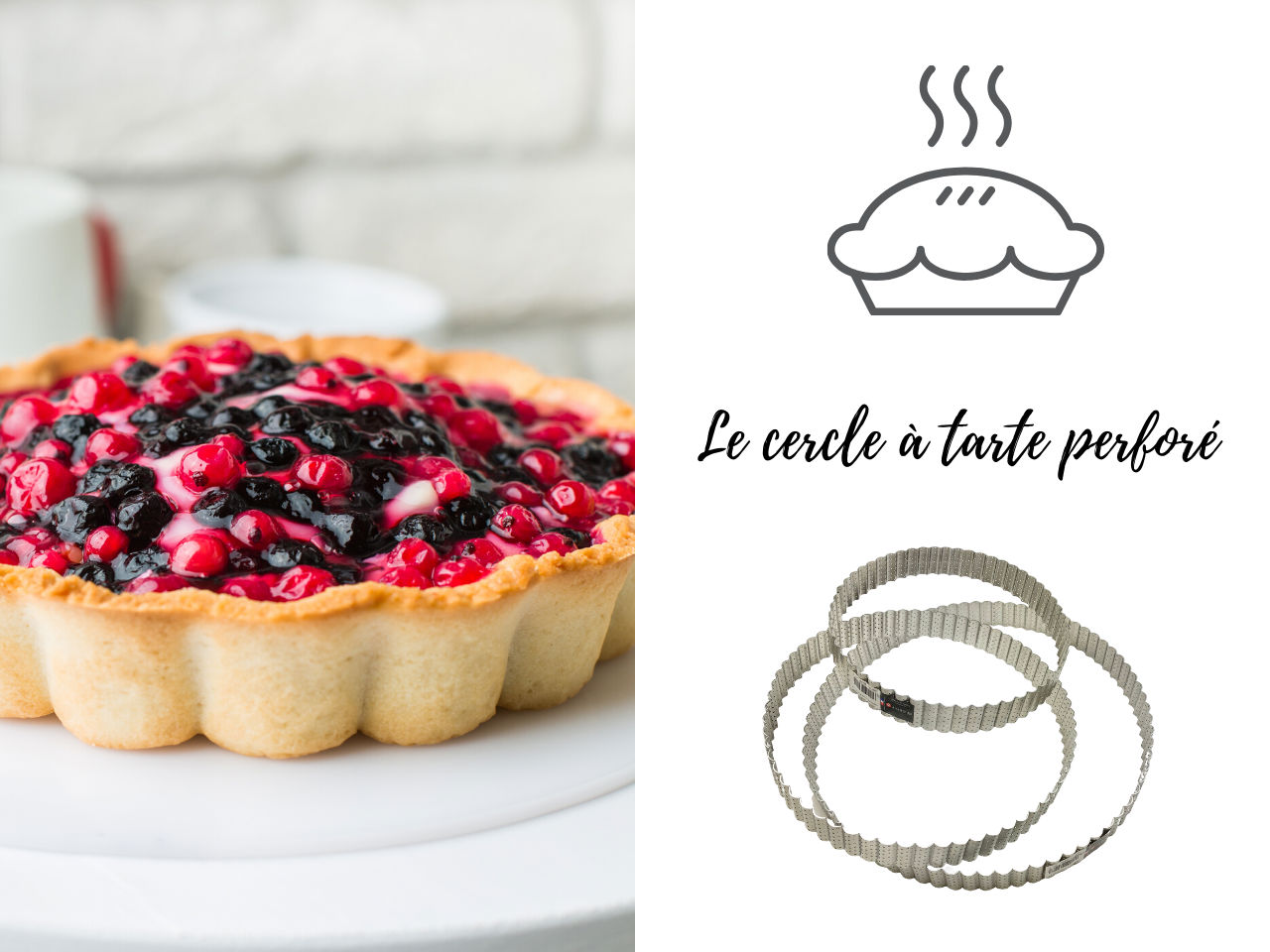 cercle a tarte perfore